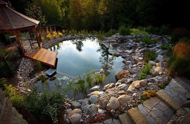 A natural pool area improves both the appeal of the outdoors and your health