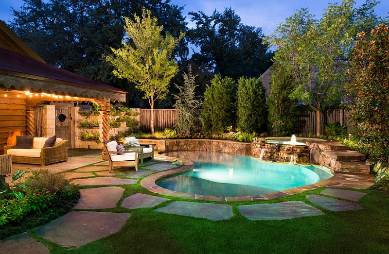 Outdoor natural pool  Natural Swimming Pools Design Ideas, Inspirations, Photos