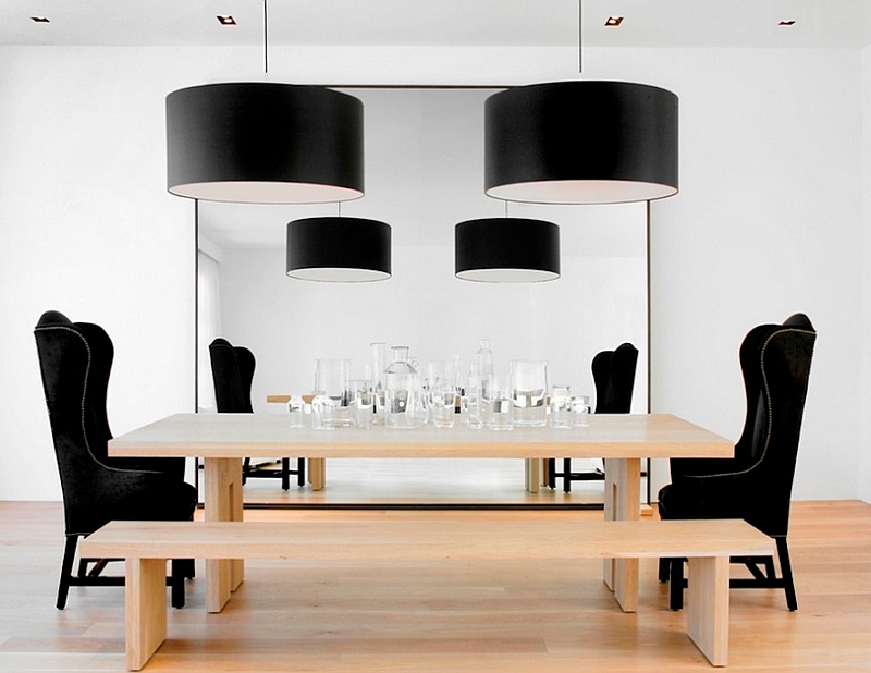 A simple way to turn towards black in the dining room