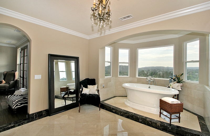 A traditional approach to the spa-styled bathroom