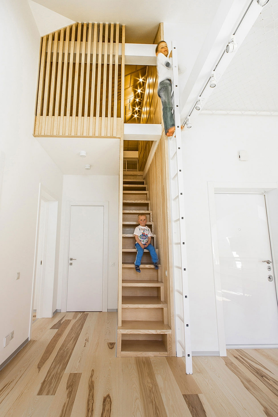 Add a ladder to give the interior a fun and playful appeal