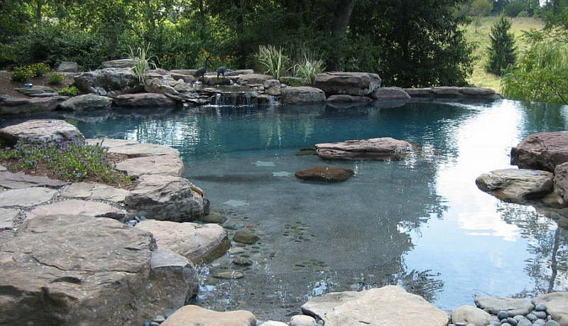 Natural swimming pools design ideas inspirations photos for Natural rock swimming pools