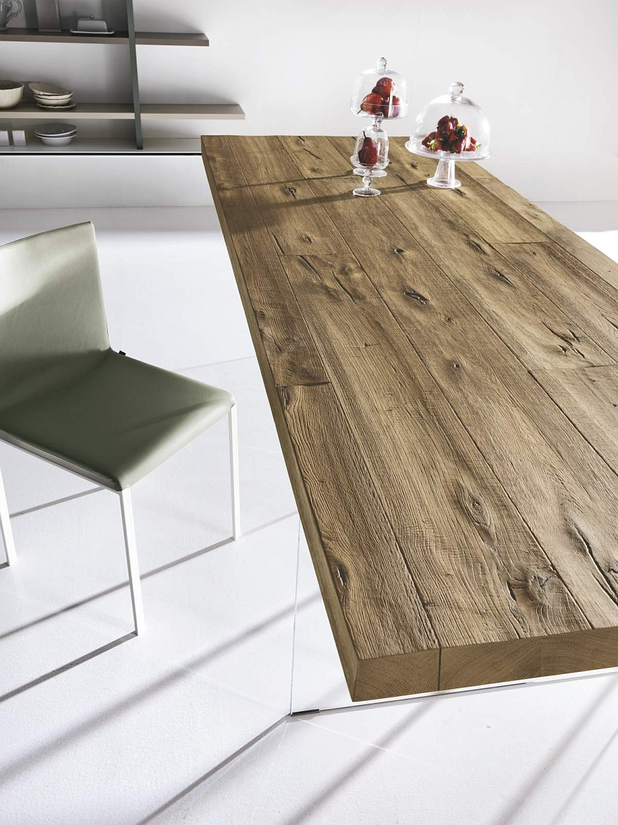Air Wildwood table blends the contemporary with the rustic