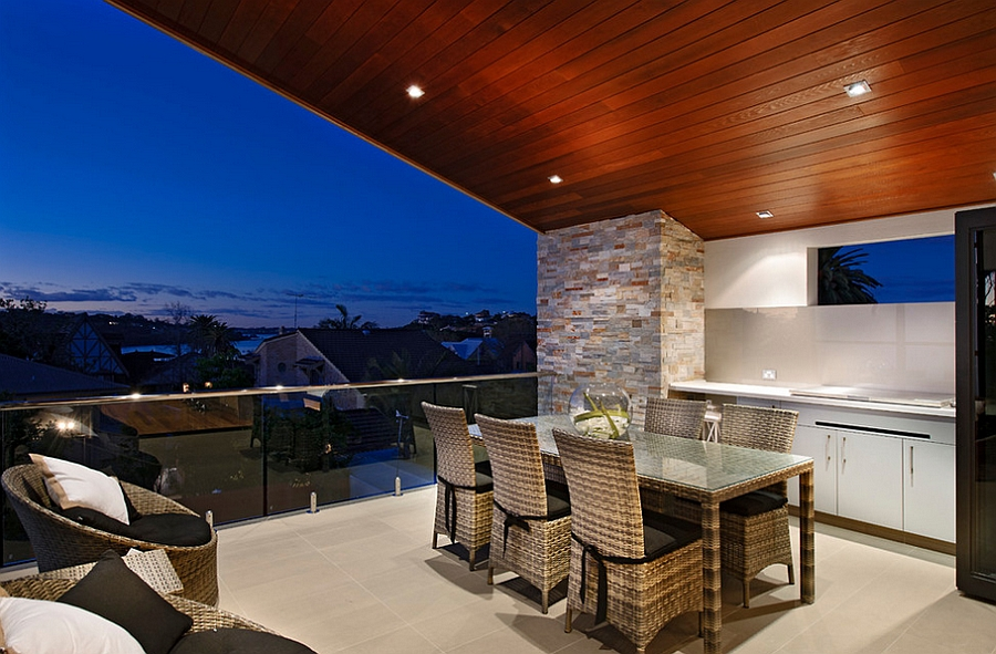 Alfresco kitchen, dining and lounge area complete the stunning outdoor deck
