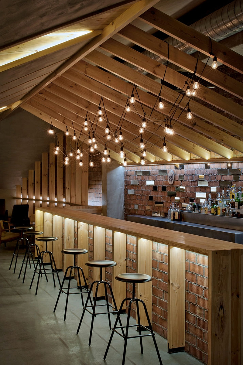 Amazing brick backdrop gives a heritage appeal to the ATTIC Bar