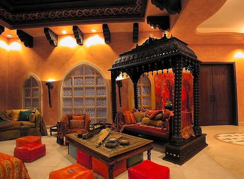 Moroccan Living Rooms Ideas Photos Decor And Inspirations : Amazing living room that combines Indian and Moroccan flavor from www.decoist.com size 800 x 587 jpeg 423kB
