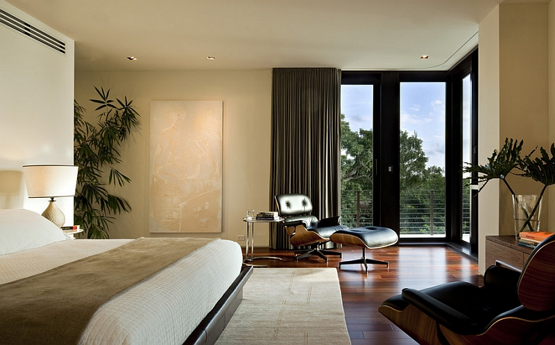 An inspirational view from the contemporary bedroom