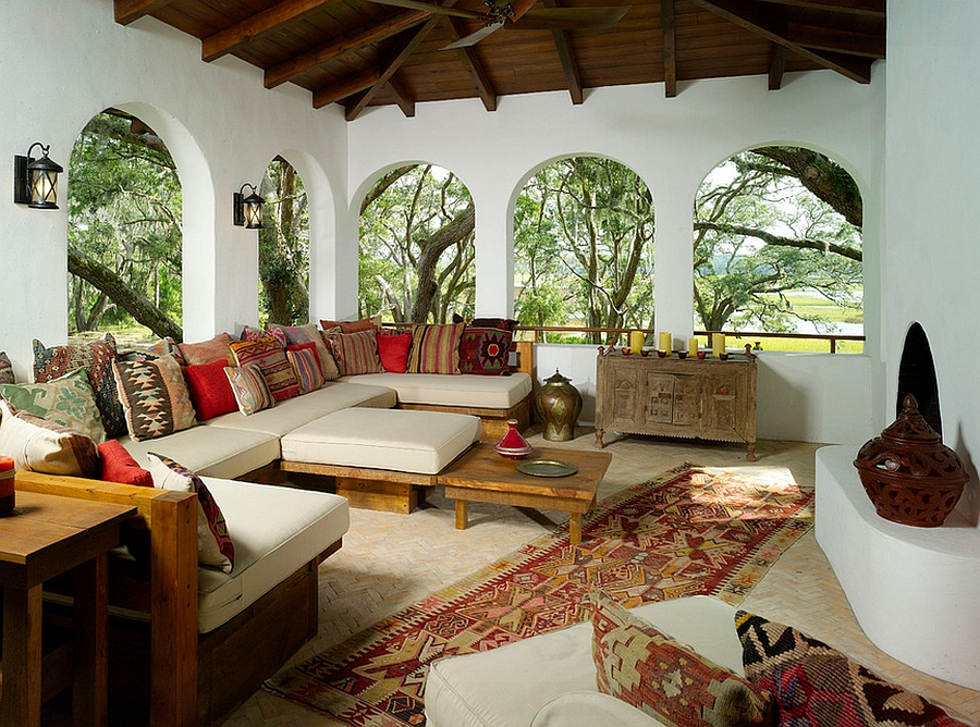 View In Gallery Arched Windows Drive Home The Moroccan Style With A Middle Eastern Touch