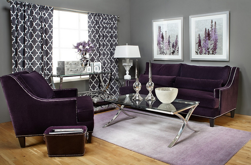 Aubergine makes a sophisticated and grand visual statement