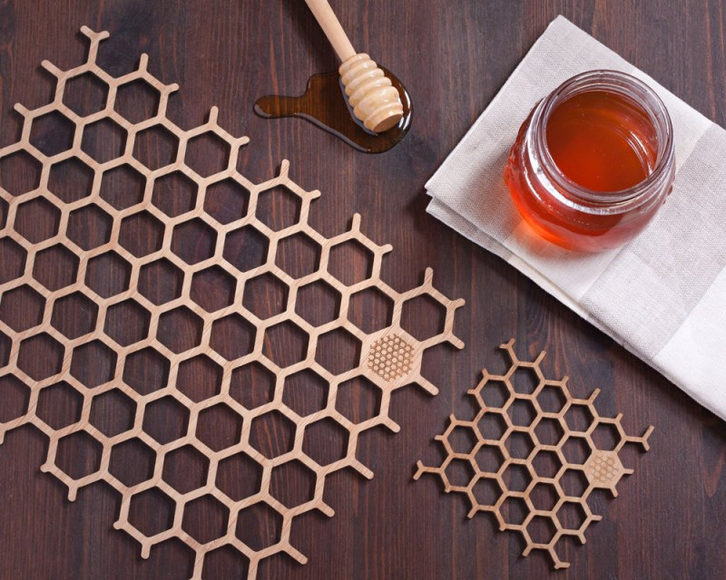 Bamboo Honeycomb Place Mats from buProducts Fresh Decor Finds From 5 Stylish Etsy Shops