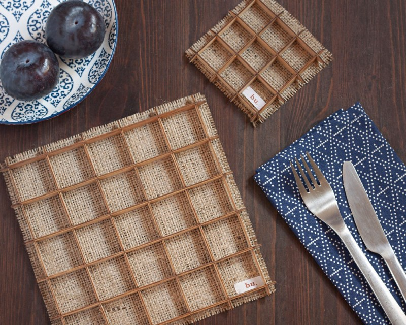 Bamboo Lattice Placemats from buProducts