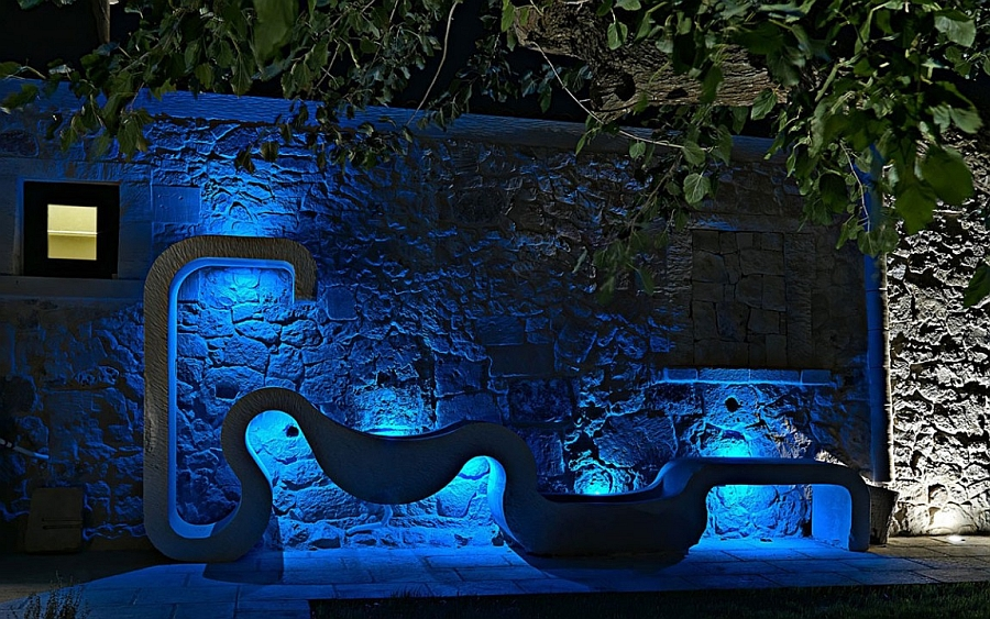 Beautiful LED lighting brings the outdoors alive at night