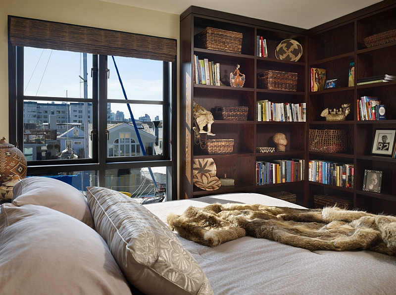 Genial View In Gallery Beautiful Corner Bookshelf In The Bedroom Doubles As A  Wonderful Display