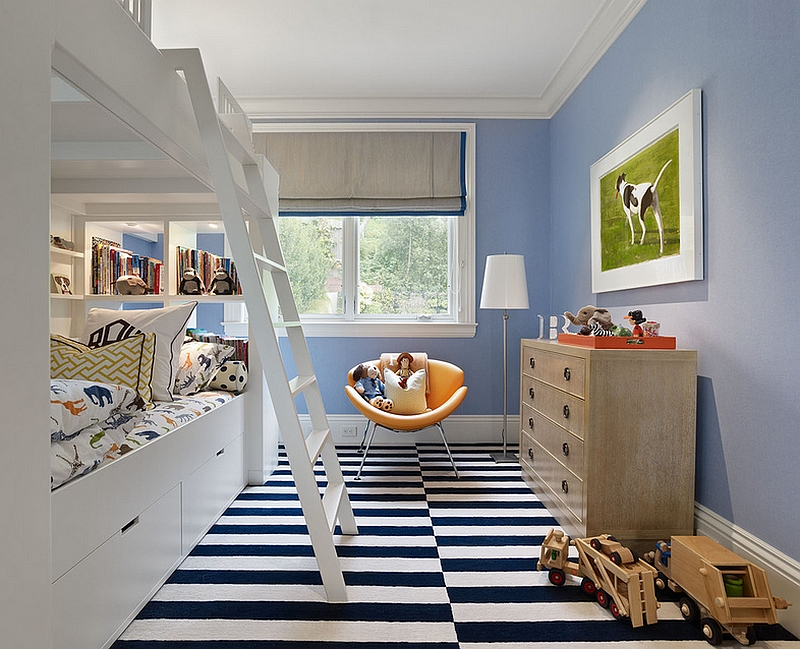 Beautiful kids' bedroom filled with space-conscious decor