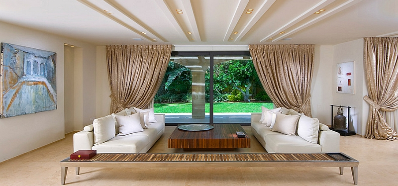 Beautiful living room goes horizontal with decor Smart Tips And Tricks To Help Make Your Ceiling Look Higher