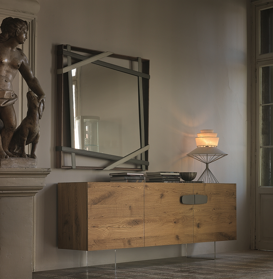 Beautiful sideboard with frame and doors in custom-crafted Heritage oak