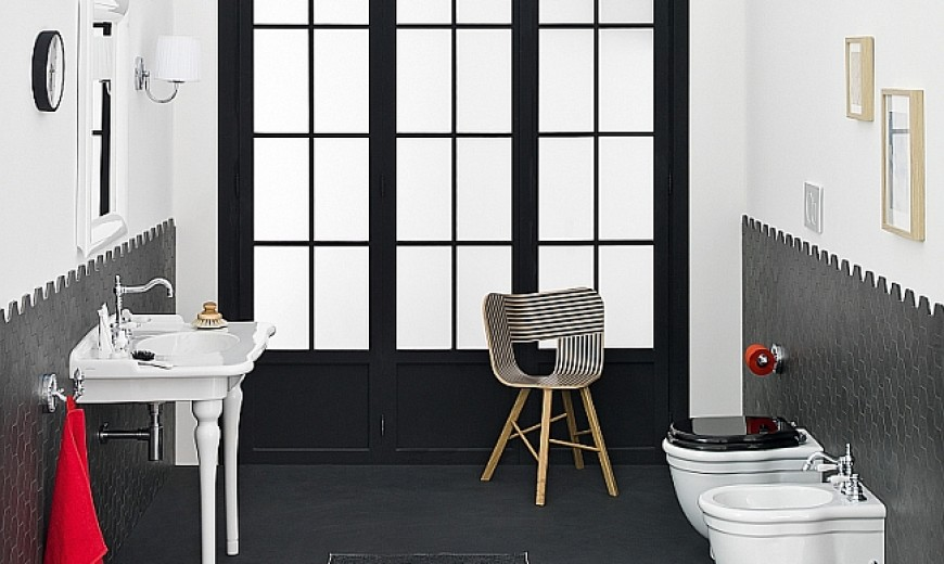15 Black And White Bathroom Inspirations With A Touch Of Retro Charm