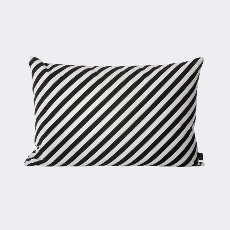Black striped pillow