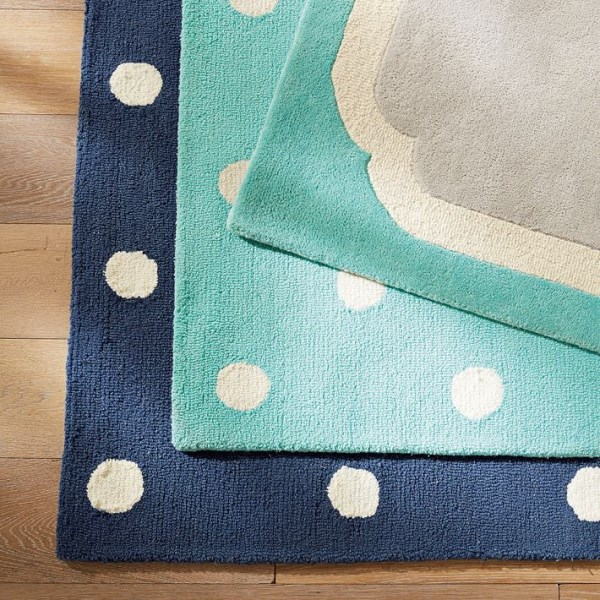 Bold rugs from PB Teen