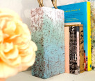 Brick book end DIY project