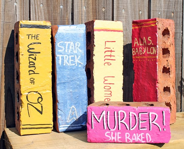 Brick book garden decor