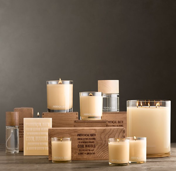 Candles from Restoration Hardware
