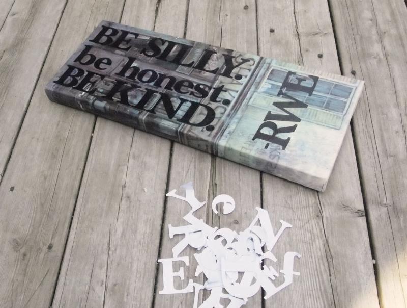 DIY Canvas Word-Art
