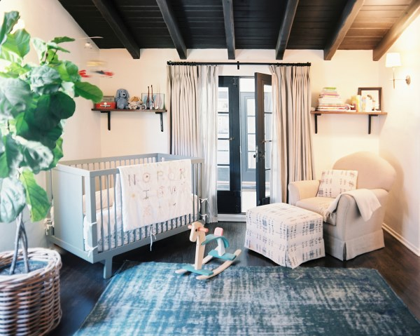 Chic earthy nursery