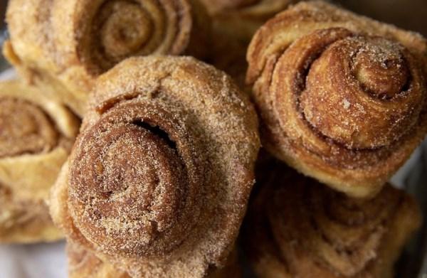 Cinnamon rolls from Upper Crust Bakery