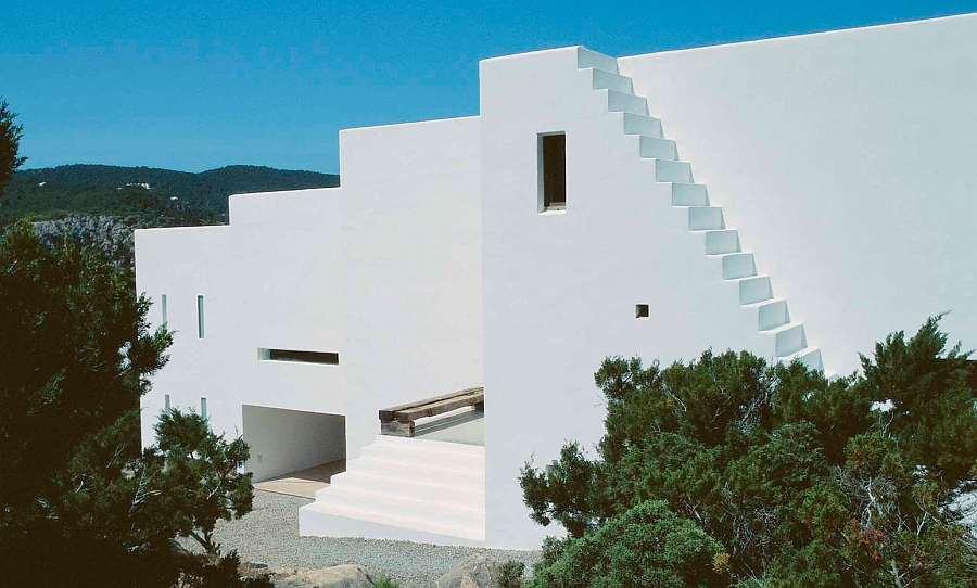 Clean and minimalist design of the trendy Ibiza home