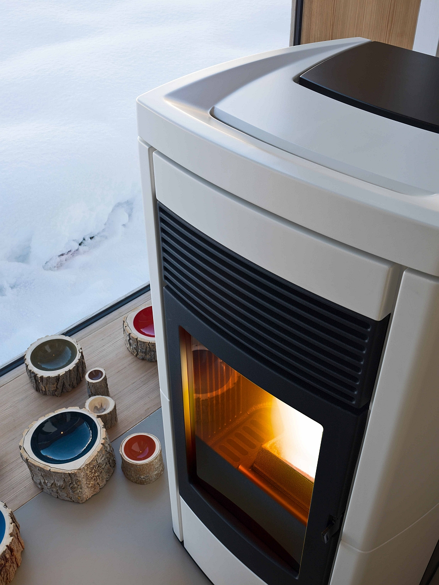Closer look at the stylish stove from MCZ