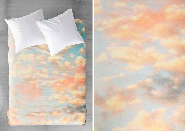 Cloud motif bedding The Design Lovers Guide to Dorm Decorating