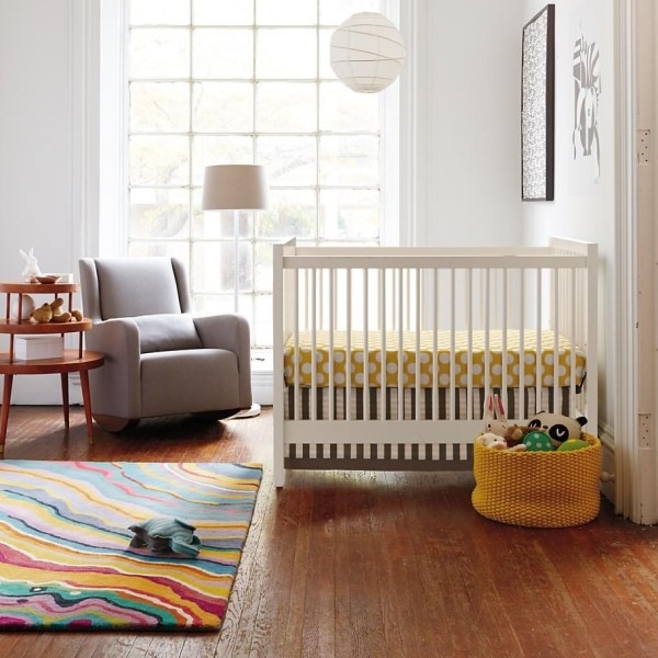 Colorful banded floor rug 600x600 Colorful Rug Ideas For Kids Rooms
