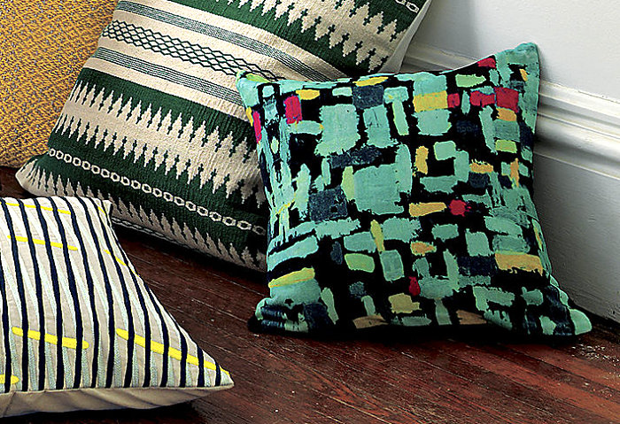 Colorful modern pillow