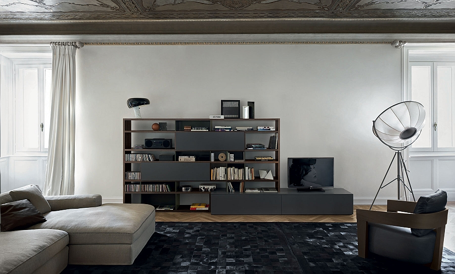 Combine the low-slug decor with matching wall unit composition