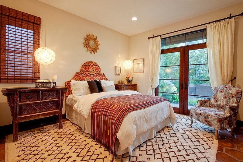 View In Gallery Combining Mediterranean Touches With Moroccan Style Gives The Bedroom A More Modern Eal