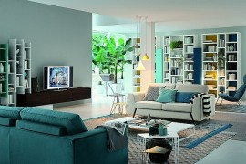Modular Living Room Units Blend Italian Finesse With Modern Functionality
