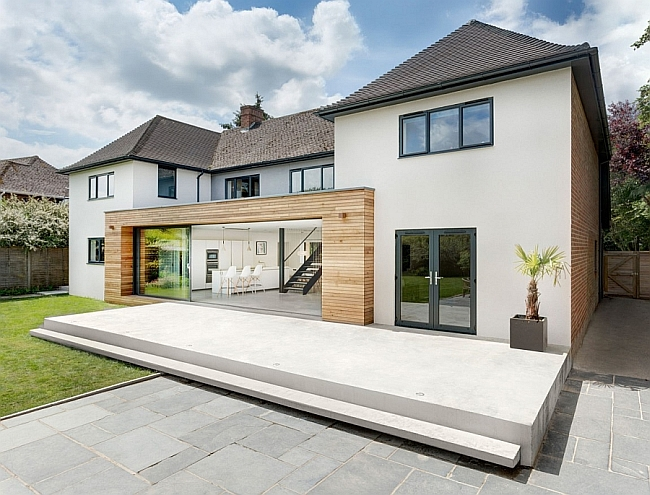 Classic English Home Gets A Grand Contemporary Update In Sparkling Style