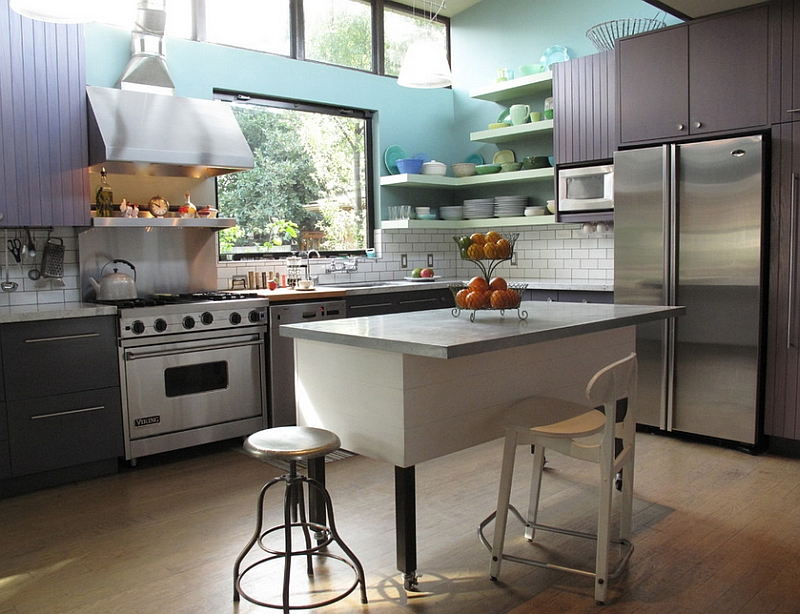Contemporary kitchen with a hint of cottage style