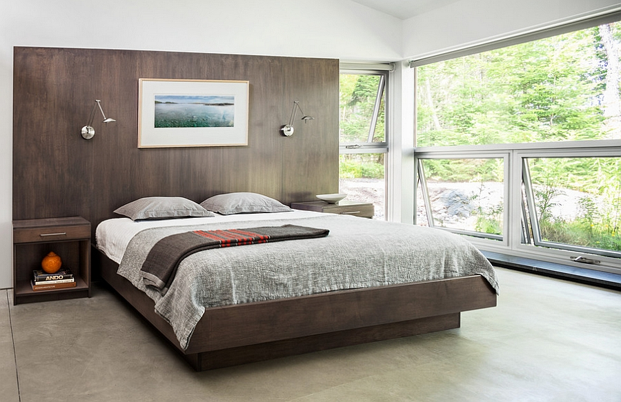 Cool contemporary bedroom with a touch of modern minimalism