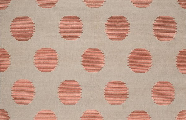 Coral dotted rug