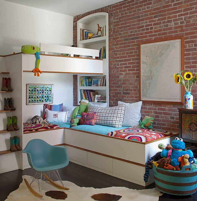 Bedroom corner decorating ideas photos tips for Futon kids room