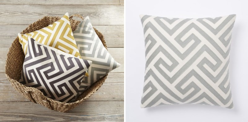 Crewel pillow covers from West Elm