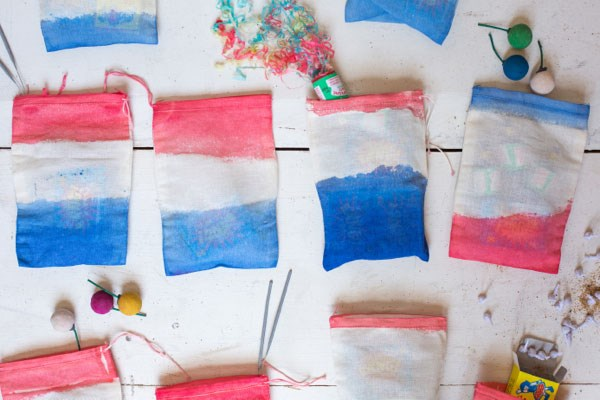 DIY 4th of July favor bags