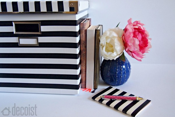 DIY Black and White storage box project