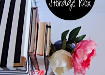 DIY Black and White Storage Box Using Electrical Tape