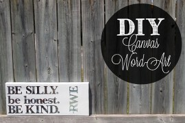 Stylish And Personalized DIY Canvas Word-Art For Your Home