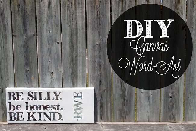 DIY Canvas Wood Art Project