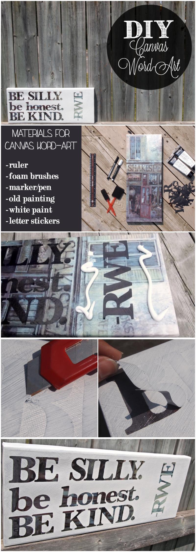 DIY Canvas Word-Art Tutorial