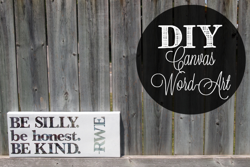 diy canvas word art project
